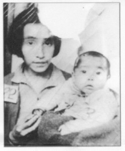 Parascovia Lokanin and her daughter Tatiana on arrival at the Japanese internment camp in 1942. From the book,