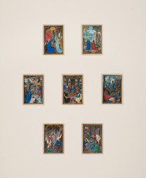 Custom mats and frames were created at NEDCC for the 'Rosarium Psalter.'