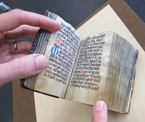 "The 'Dominican Prayer Book,"" 15th century, selected by the Snell Library at Northeastern University for treatment and imaging."