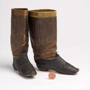 Boots worn with Major Tom Thumb's costume.