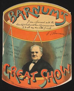 "Cover, ""Barnum's Greatest Show,"" the only toy book authorised by Mr. Barnum."
