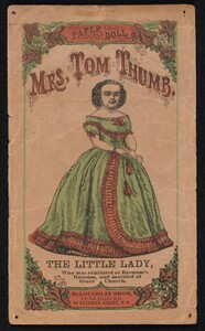 Paper Doll set depicting M. Lavinia Warren, wife of Charles S. Stratton. Mr. and Mrs. Tom Thumb.