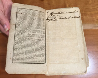 SC HISTORICAL SOCIETY PROJECT: Volume, showing a gardener's almanac page and a journal entry.
