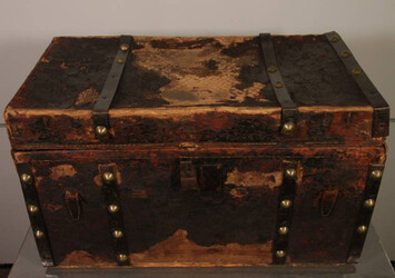 Image courtesy of Greensboro History Museum. Discovery in a hidden trunk.