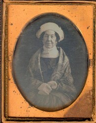 The second Mathew Brady daguerreotype of Dolley Madison in the collection of the Greensboro History Museum. Image courtesy of the Greensboro History Museum.