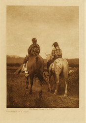 """Daughters of a Chief"" Photogravure; Vol. 3; Plate Facing pg. 20; The Teton Sioux, The Yanktonai, the Assiniboin; 1907 Photo Credit: Northwestern University Library, Edward S. Curtis's ""The North American Indian,"" 2003. http://curtis.library.northwestern.edu/curtis/toc.cgi"