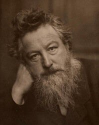William Morris 1834-1896 - (Photo: Wikipedia, https://commons.wikimedia.org/wiki/File:William_Morris_age_53.jpg)