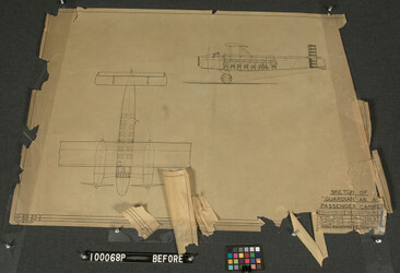 "Design drawing of the ""Guardian"" before treatment at NEDCC"