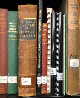 Bound volumes in the Abington Public Library Local History Collection.