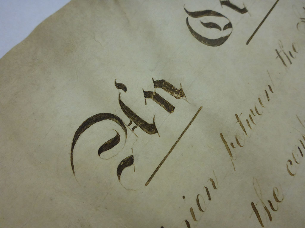 Flaking iron gall ink on the Ordinance of Secession