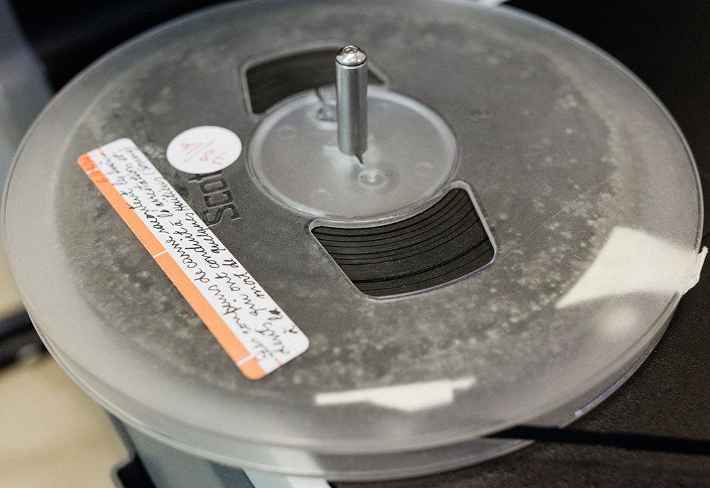The mold needed to be removed before digitizing the tapes, especially because the mold would be a health hazard and could interfere with playback.