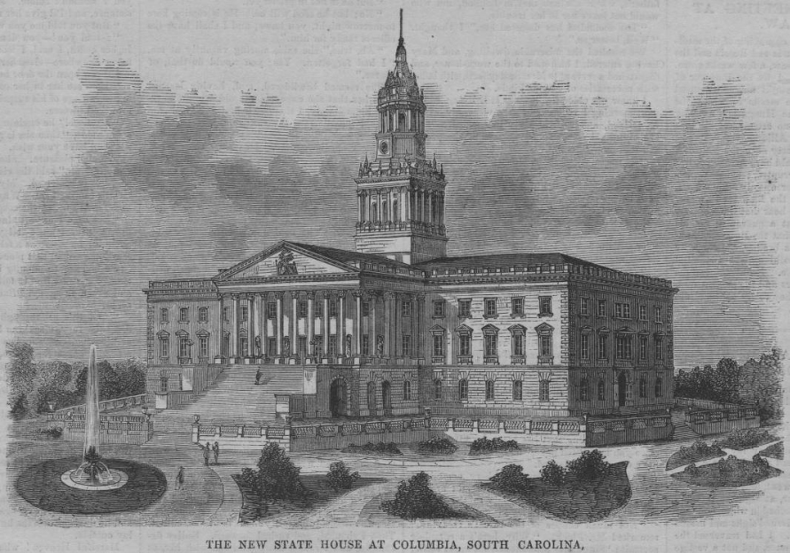"""New State House at Columbia, South Carolina,"" Engraving, 1860."
