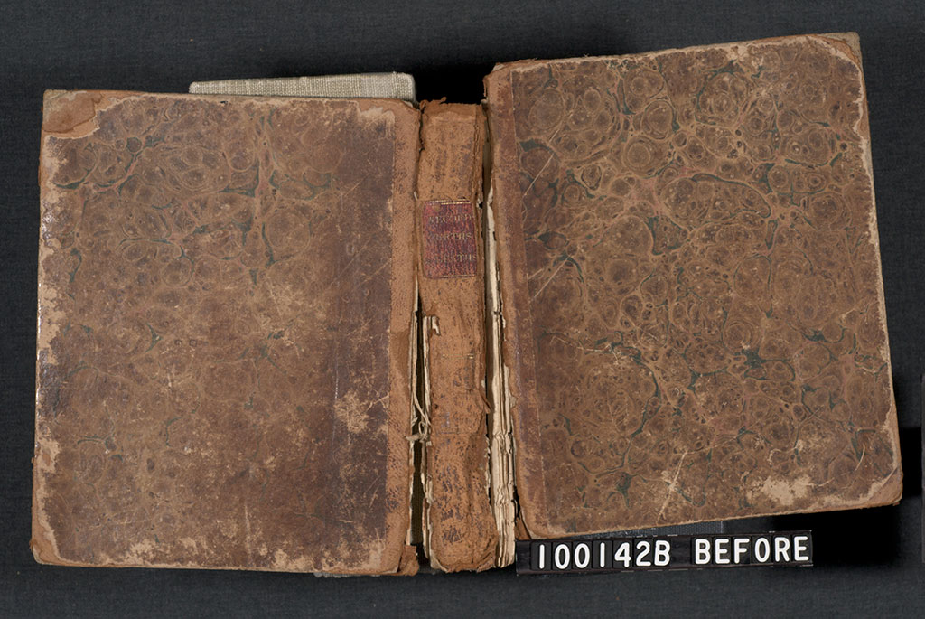 Before treatment, showing binding condition.