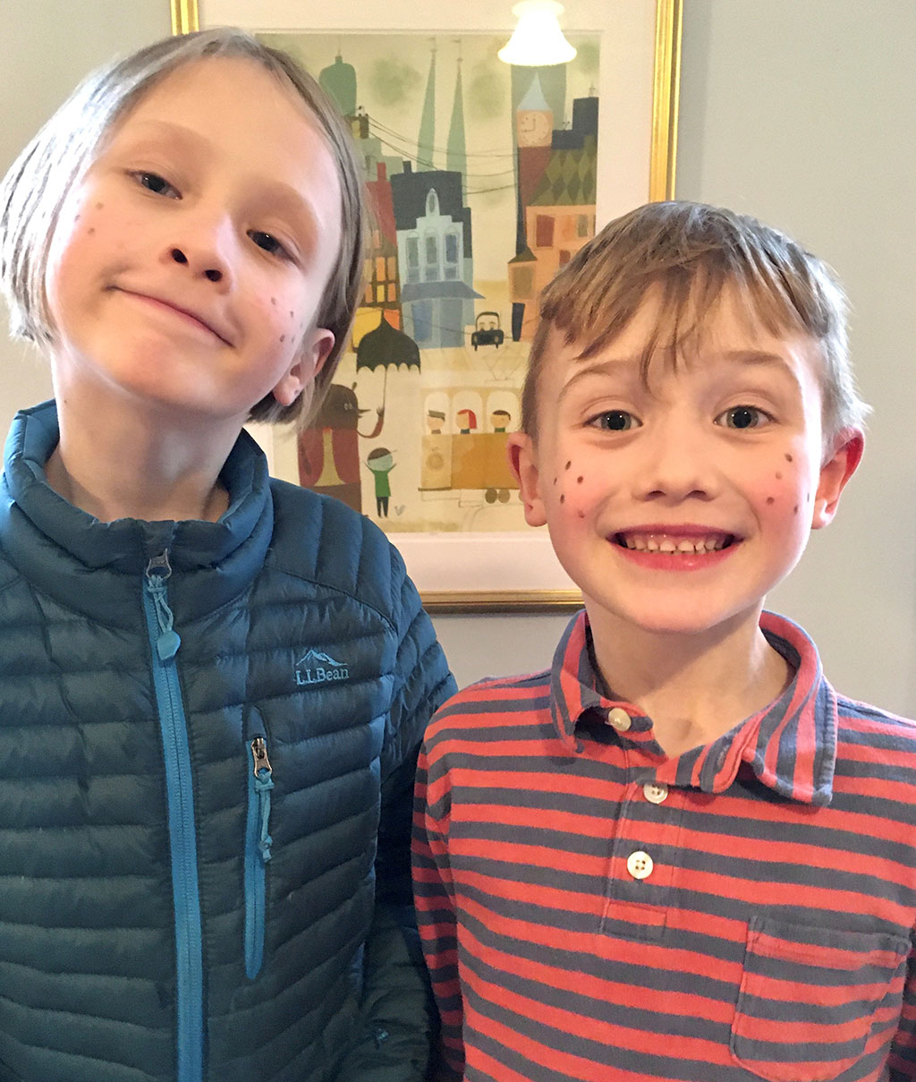 Swedish Maundy Thursday - Kids with freckles!