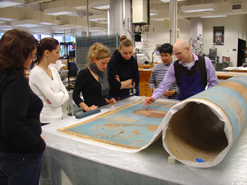 NEDCC conservator discusses treatment of an oversize map